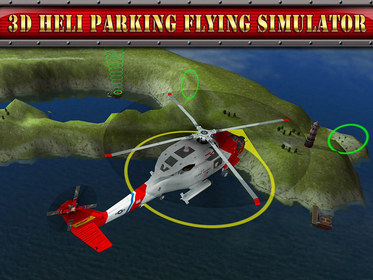 3D Helicopter Parking Simulator Game: Real Heli Flying Driving Test Run Park Sim Games Main Game App