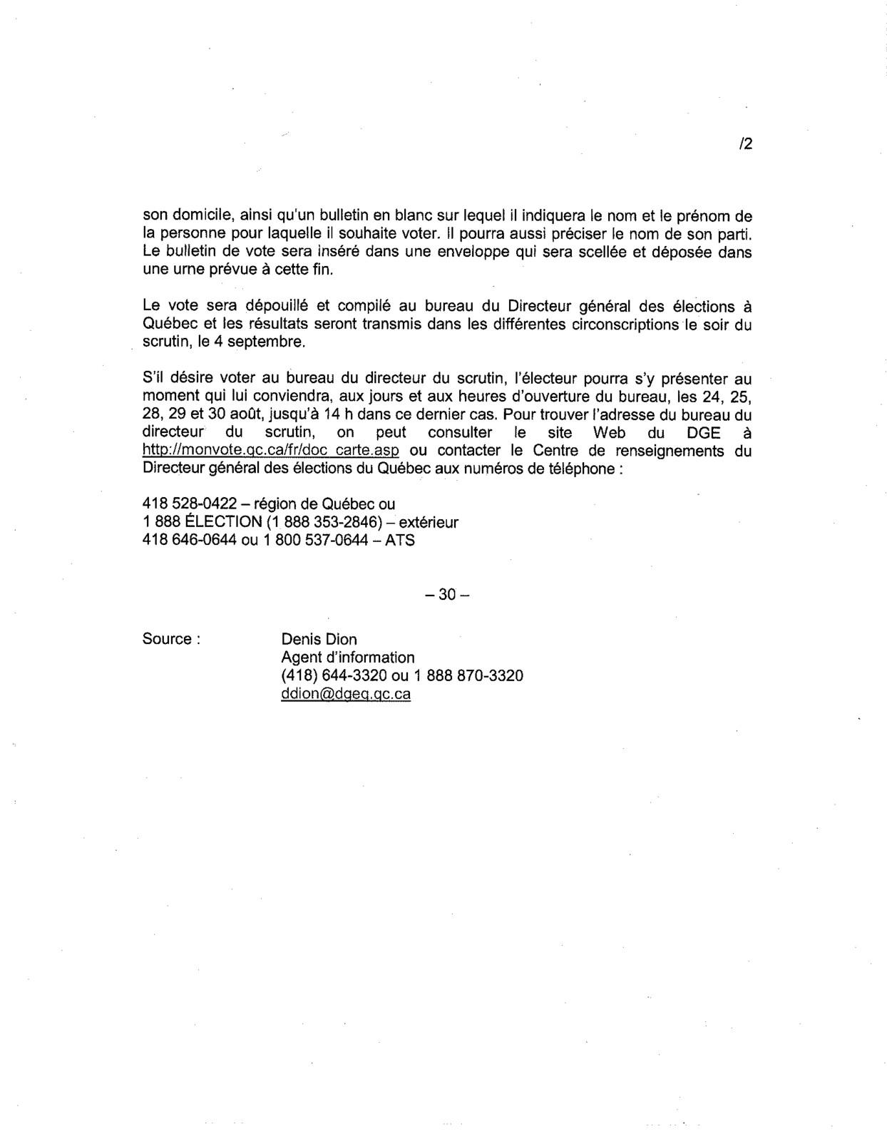 La cdc ici montmagny l 39 islet message du directeur g n ral - Bureau du directeur general des elections ...