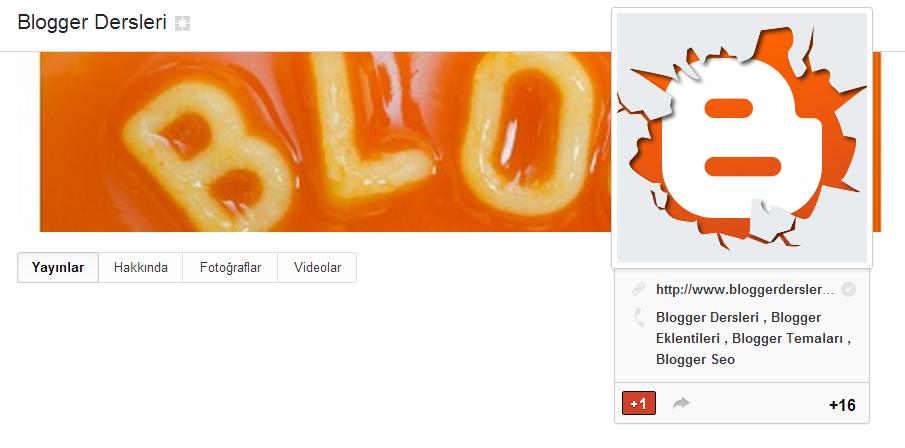 Blogger Yayın İçi Google Plus Sayfası Etiketleme
