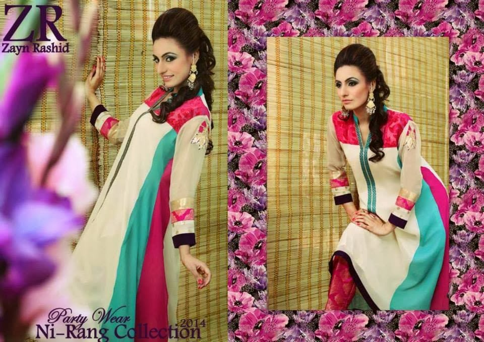 Zayn Rashid Party Wear Ni-Rang Collection 2014 | Party ...