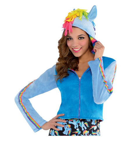 MLP Rainbow Dash Adult Costume Hoodie