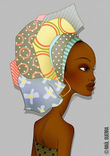 Caras de Mujeres Negras Africanas