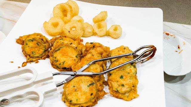 Fried Veggies as Side Dish in Matgalne Korean Restaurant