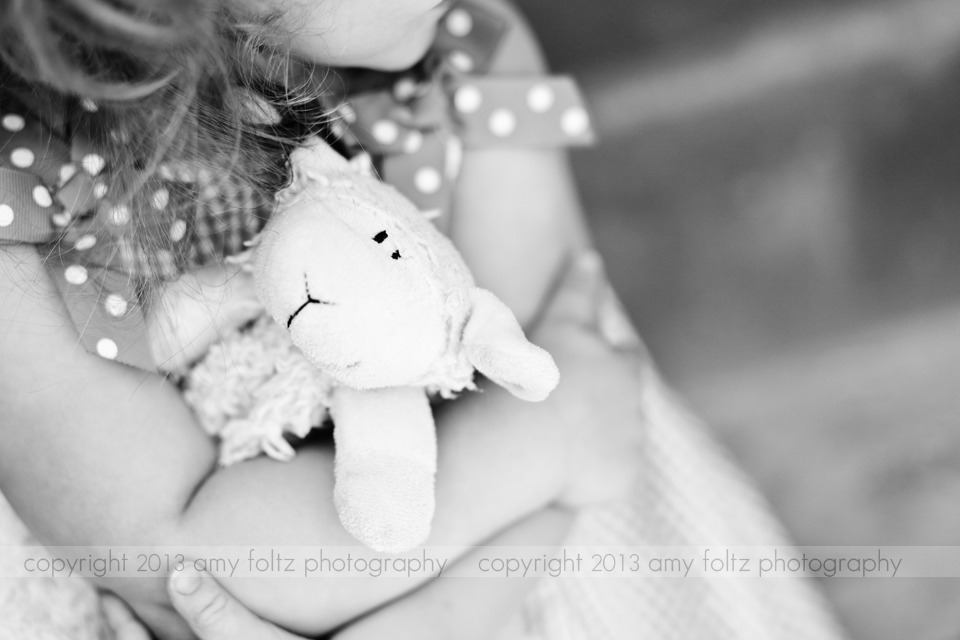 black and white photo of girl with stuffed animal - Marshall IL photographer
