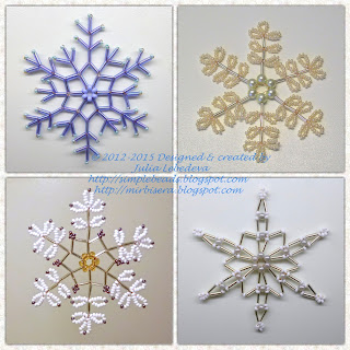 Beaded snowflakes by Julia Lebedeva