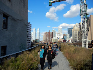 Views off of the High Line in New York City
