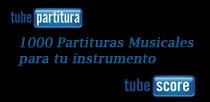Tubepartitura y Tubescore 1000 partituras para todos los instrumentos en clave de fa, clave de sol y clave de do. Publica tus partituras