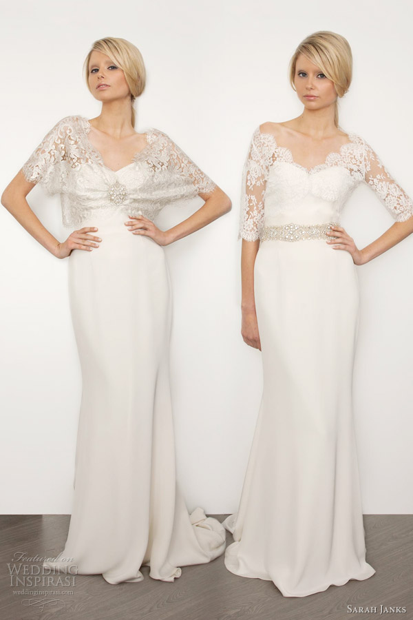 Dawn js fashion wedding gown popular sleeve and lace wedding dresses when it comes to choosing a wedding dress with lace sleeves the bride will be able to choose from a long or short sleeves short sleeves offer feminine junglespirit Choice Image