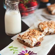 Roasted Strawberry Blondie Bars Balsamico