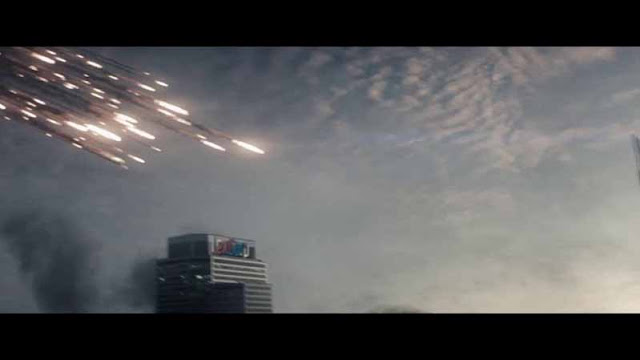 man of steel missiles over lexcorp building