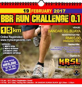 BBR Run Challenge 2017 - 19 February 2017