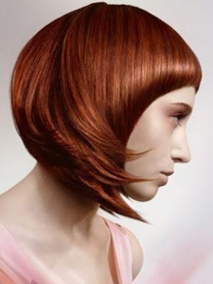 peinado cabello rojo mujer