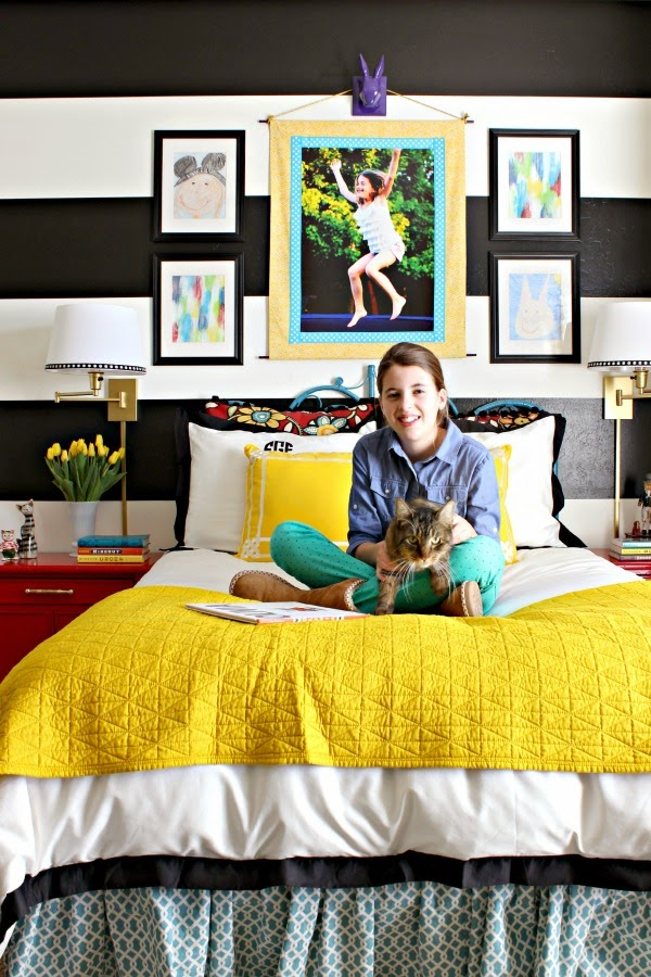 Girl S Bold And Colorful Bedroom Refresh Dimples And Tangles