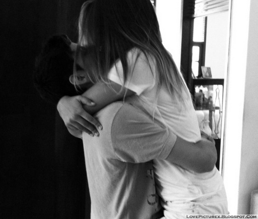 cute, couple, hug, kiss, lovers
