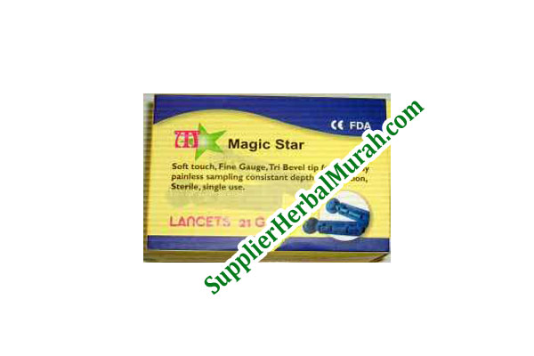 Jarum Bekam 21G isi 200 Magic Star (kotak kuning)