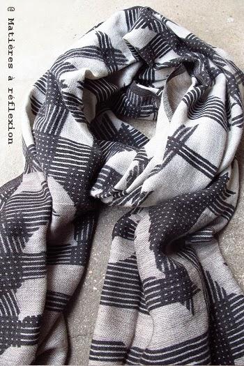 Foulard homme graphique en laine Ma Poésie