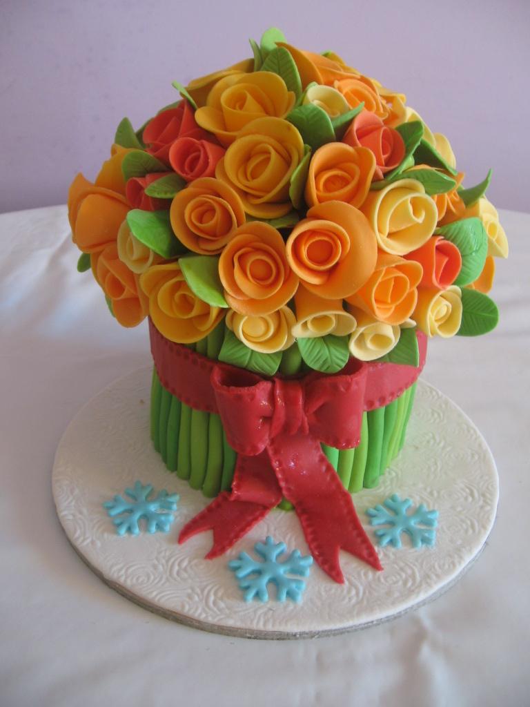 dolcinzia torta mazzo di rose