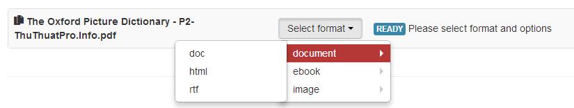 Chuyển đổi bất cứ định dạng với Cloudconvert