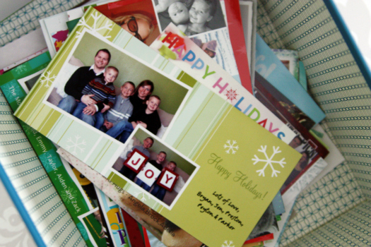 Iheart organizing greetings how we organize holiday cards here is what i had started with m4hsunfo