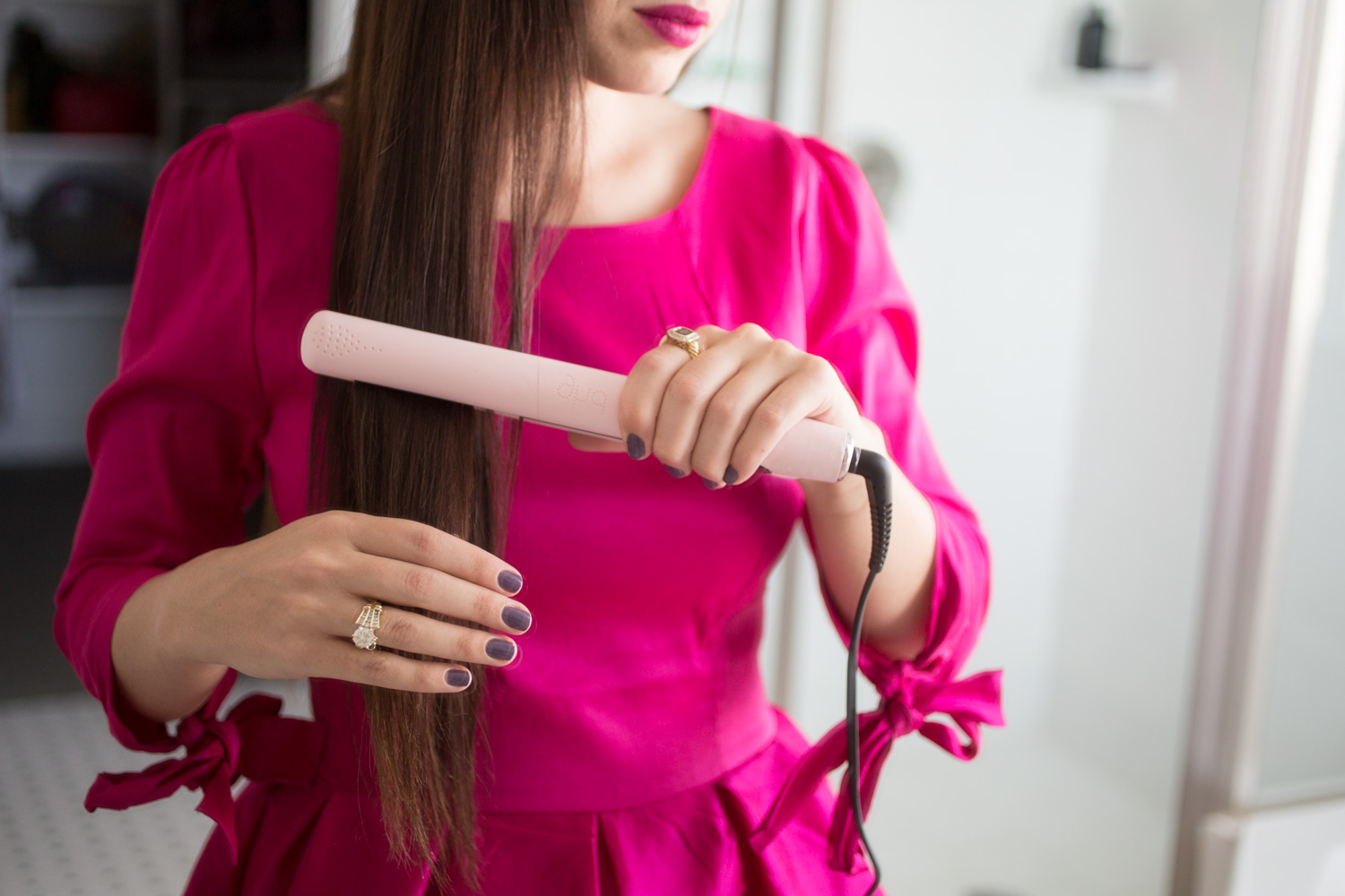 """ghd limited addition vintage pink 1"""" flat iron review"""