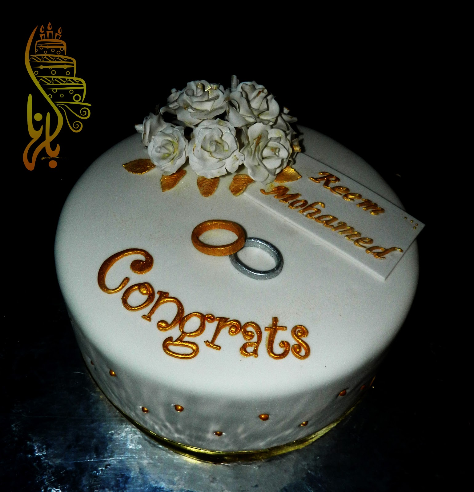 bel hana engagement cake wedding rings