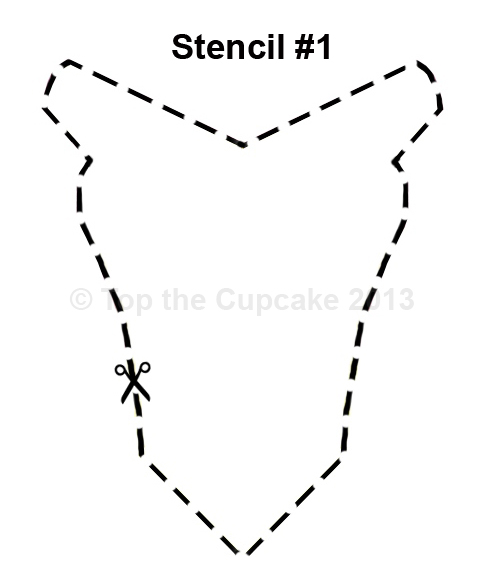 If You Are Making Regular Size Cupcakes The Stencil Should Be About 45cm In Width Print Stencils On Thick Cardboard And Cut Out Shapes