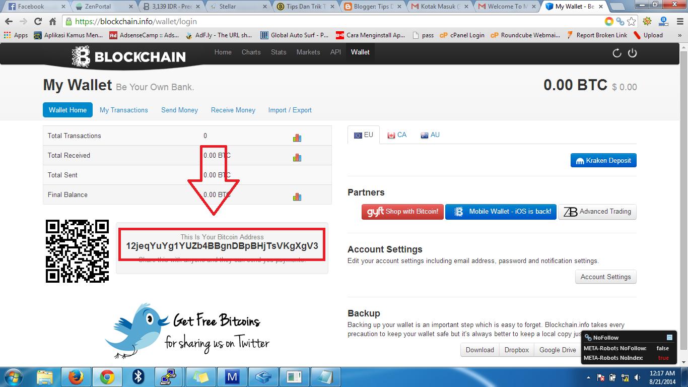 Halaman utama yang Ada Bitcoin Address - Berita Bitcoin