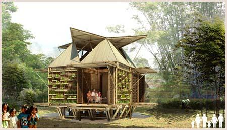 Casas de bambú flotantes