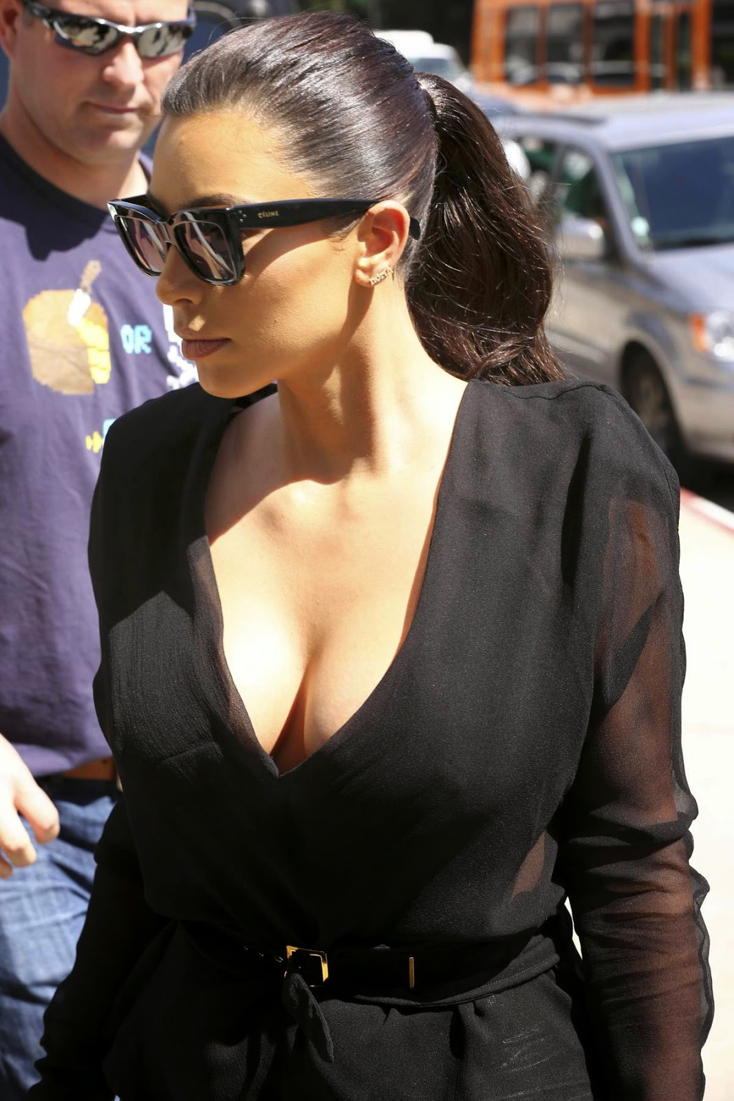 kim kardashian cleavage candids in los angeles