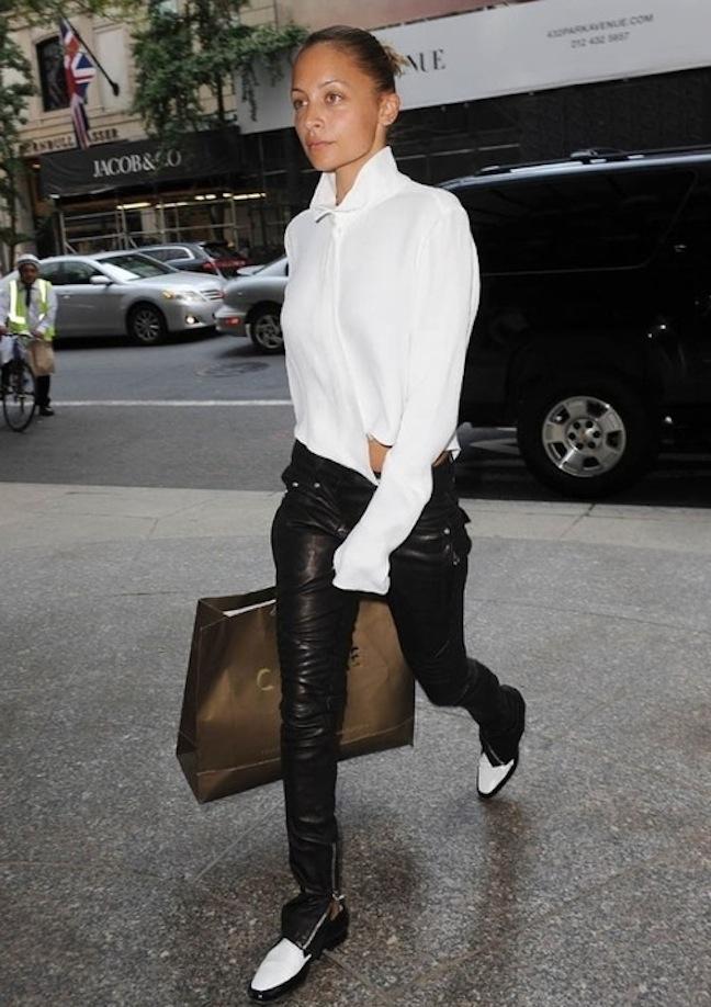 Nicole Richie Menswear Street Style