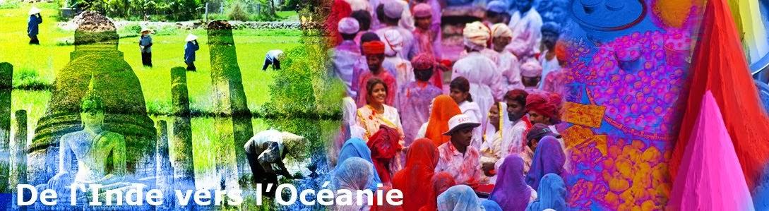 De l'inde vers l'océanie