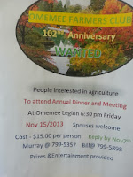 Omemeee Farmers Club 102nd Anniversary Poster