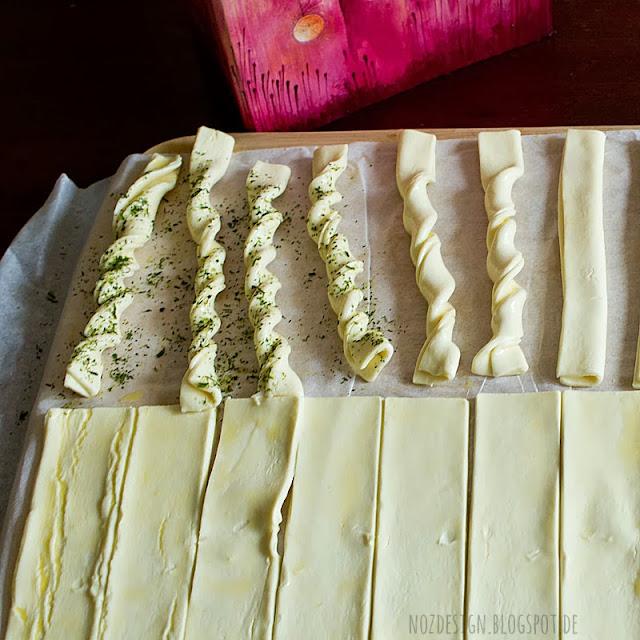 Knabbergebäack aus Blätterteig selbster machen