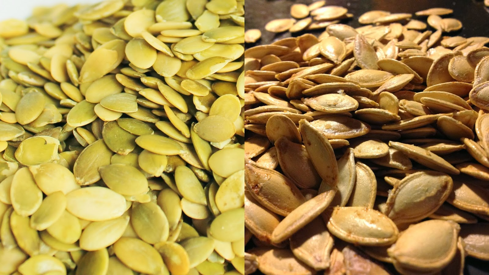 Raw and Roasted Pumpkin Seeds