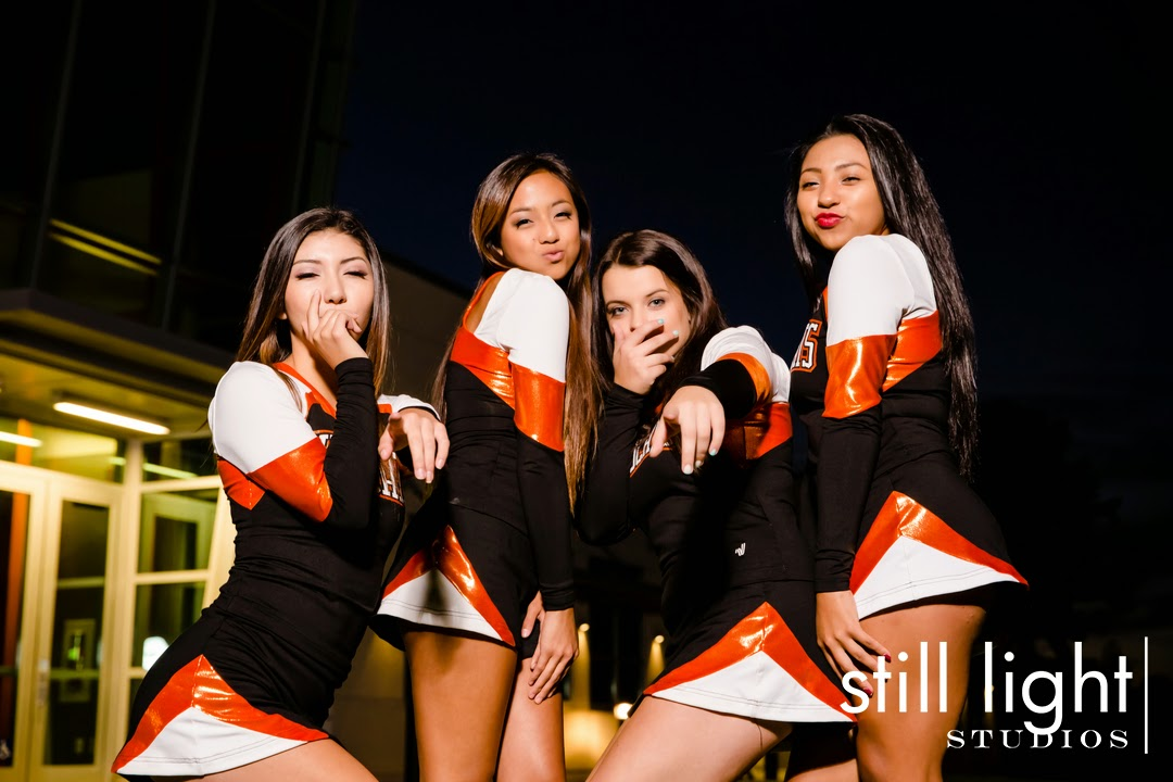 Woodside High School Cheer Team Photo by Still Light Studios, School Sports Photography and Senior Portrait in Bay Area, cinematic, nature
