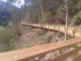 Passadiço em Madeira em linha reta