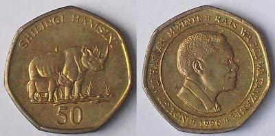 tanzania 50 shilingi 1996