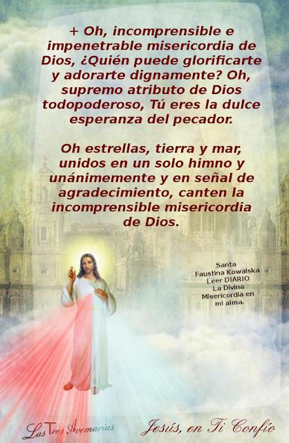 oracion a la misericordia tomado del diario la divina misericoria