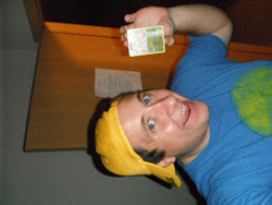 Alex with his Pokemon Card.