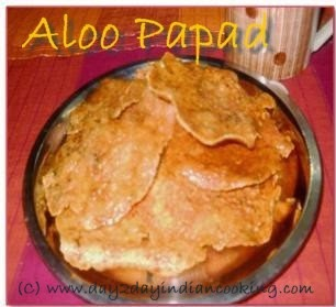 recipe of making aloo papads with mashed potatoes, sun dried recipe
