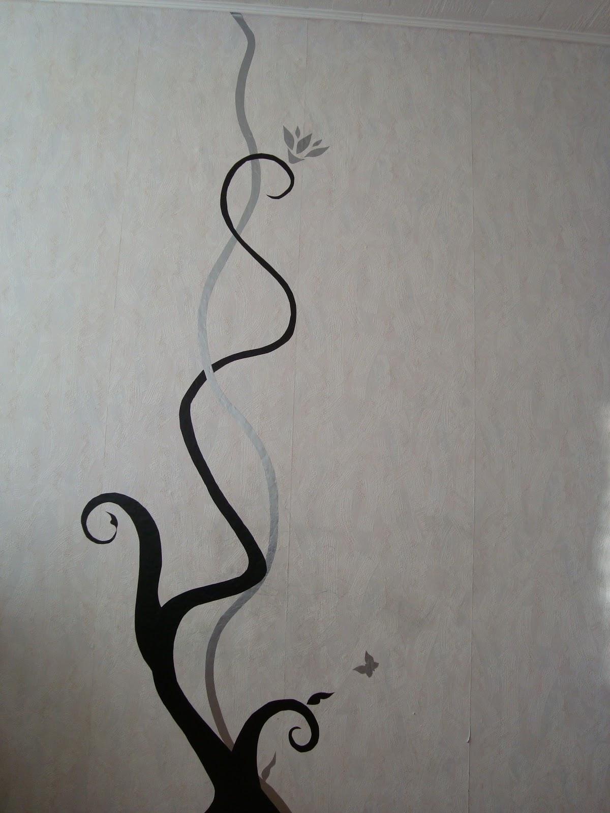 Рисунок карандашом на стене своими руками 33
