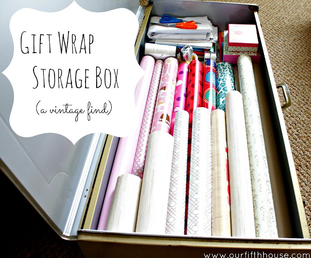 Our Fifth House - gift wrap storage box