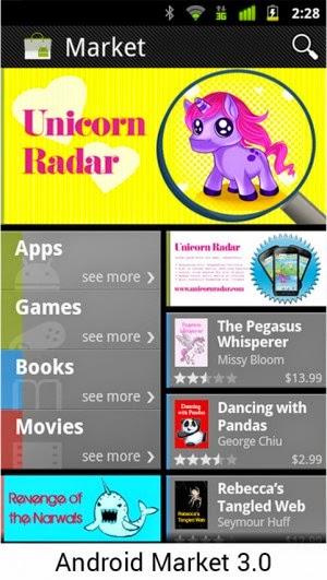 Android 3.0 Makin banyak aplikasi dan game