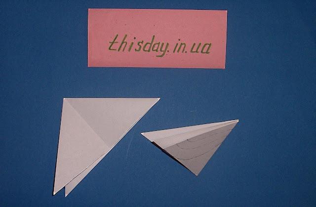 снежинка из бумаги, схема
