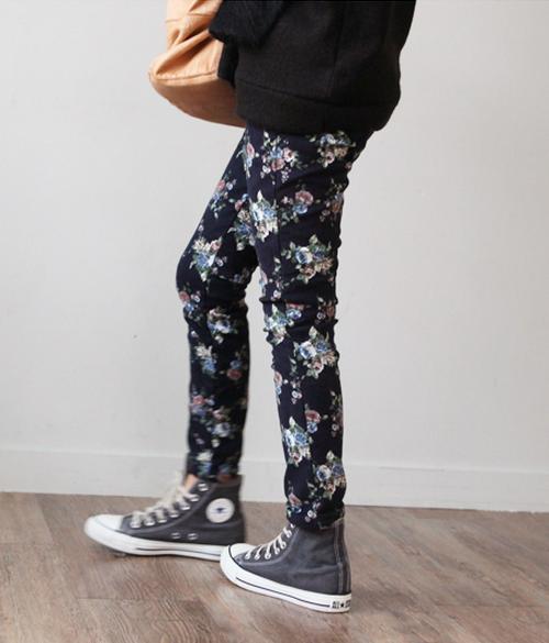 Floral Skinnies Pants