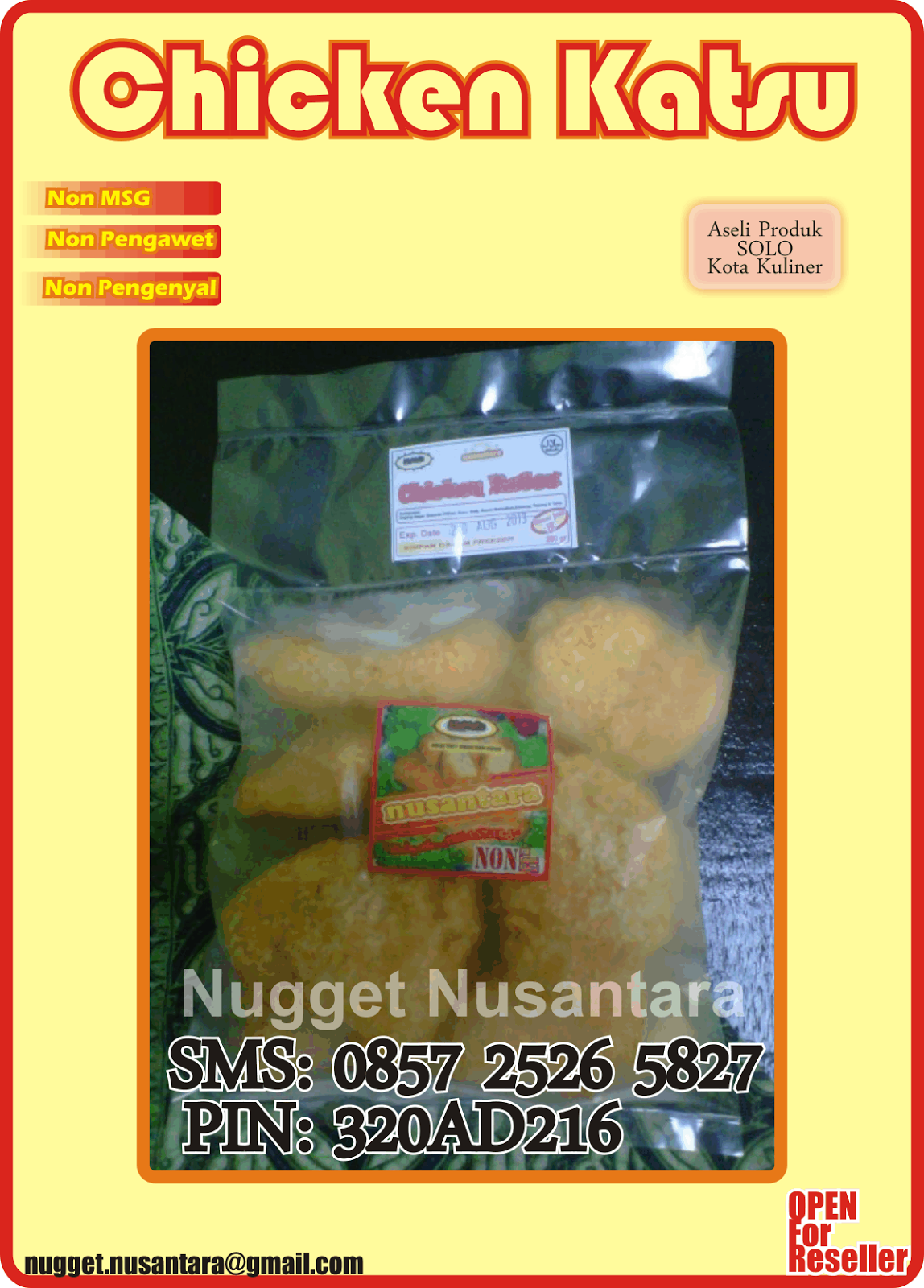 NUGGET SEHAT SOLO: Chicken Katsu