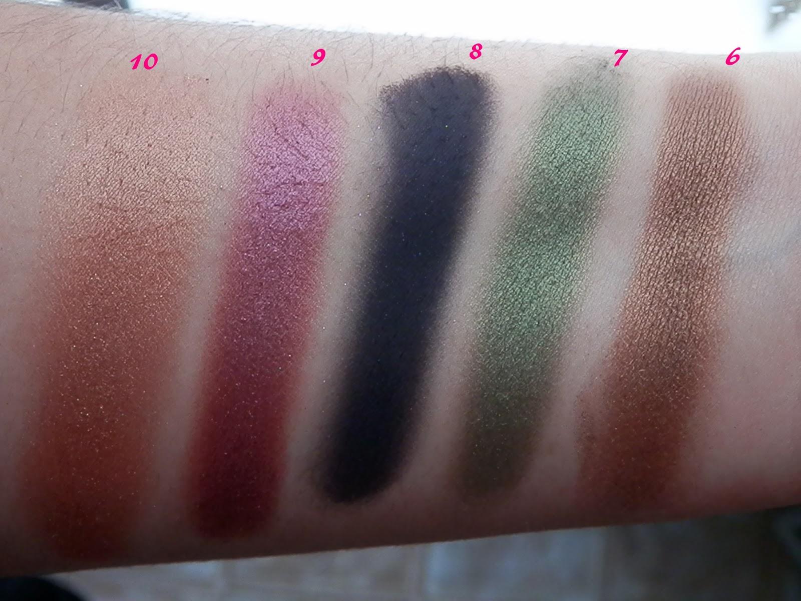Ammo Eyeshadow Palette Swatch