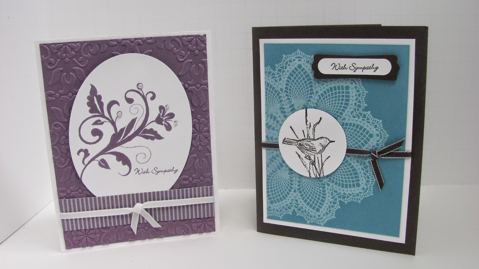 Personally yours stampin up sympathy cards