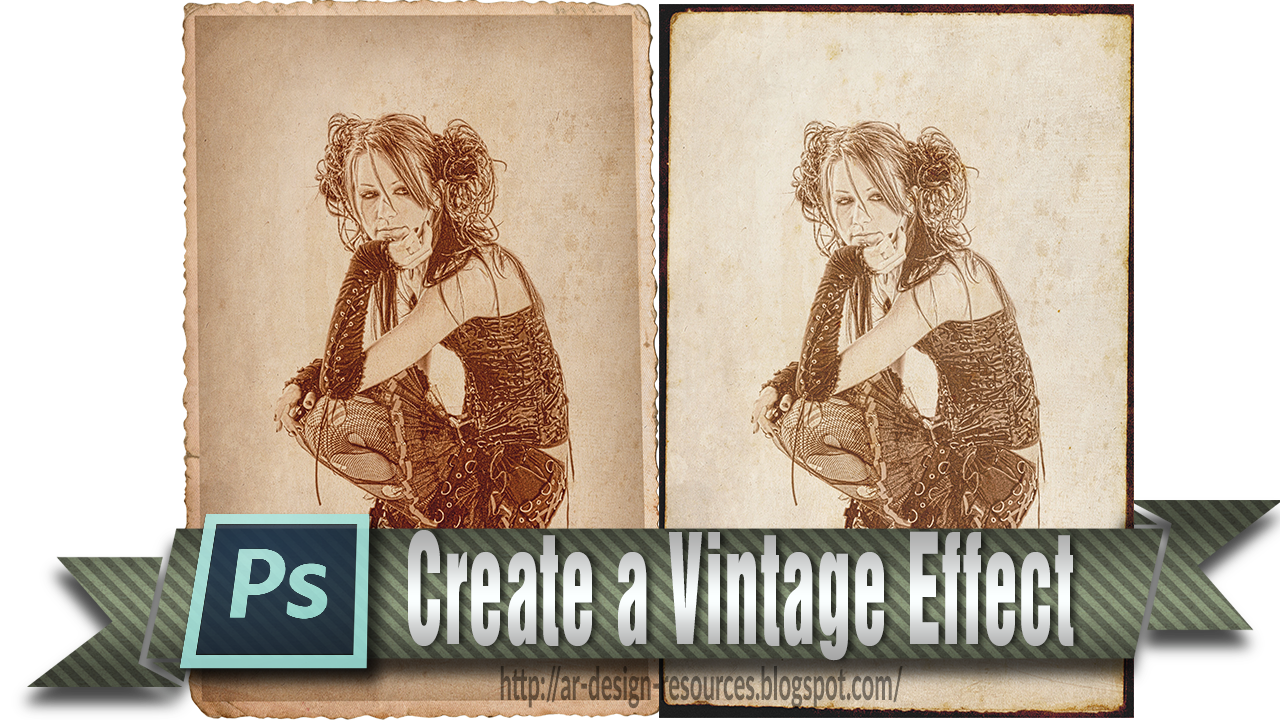 How to create a Vintage effect — Adobe Photoshop Tutorial