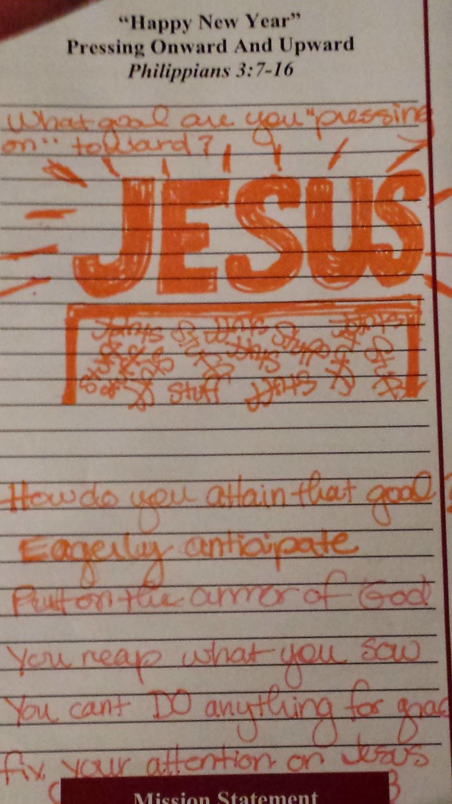 Visual notes on Sunday Sermon